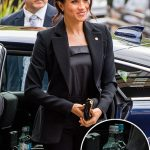The water could be spotted in Meghan's car Photo (C) GETTY