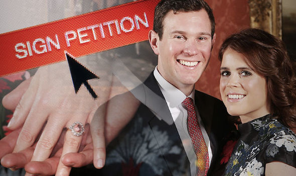 Thousands of Britons have signed a petition to make the Royal Family pay for Eugenie's wedding (Image GETTY)