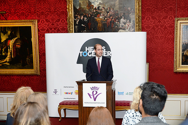 William has launched an inspiring new mental health initiative Photo (C) GETTY