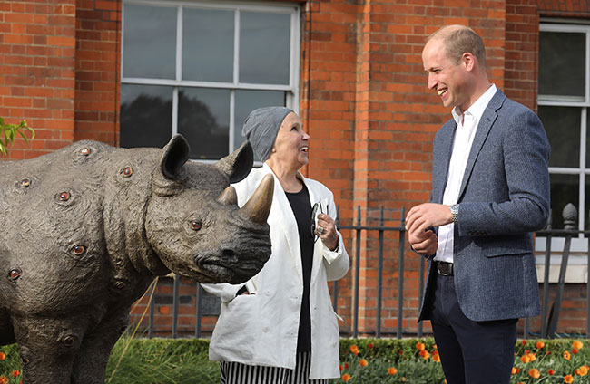 William helped raise poaching awareness at the Tusk Rhino Trail this week Photo (C) GETTY