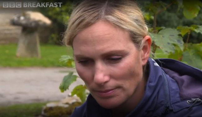 Zara Tindall was close to tears as she talked about her miscarriages Photo (C) GETTY