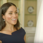 We have a clip of Meghan Markle reacting to her wedding dress and she Photo (C) TWITTER