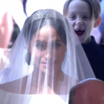 We have a clip of Meghan Markle reacting to her wedding dress and she