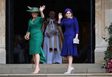 0 Princess Eugenie wedding live Princess Beatrice and Sarah Ferguson waved to crowds Image GETTY