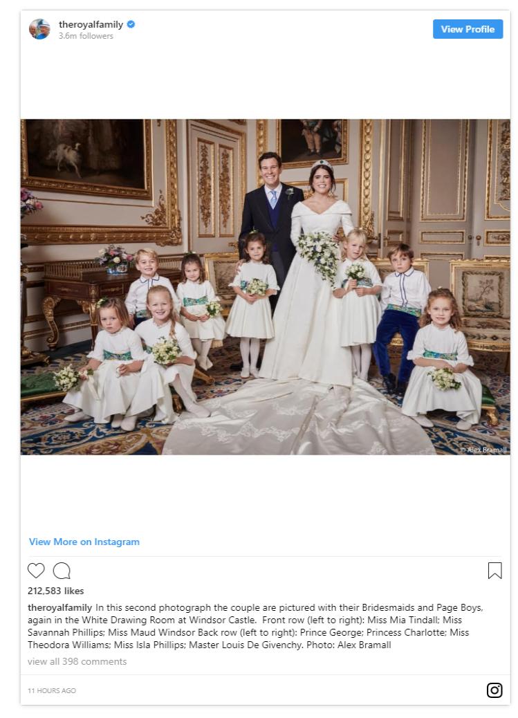 1 Princess Eugenie Official Photos C INSTAGRAM ROYALFAMILY