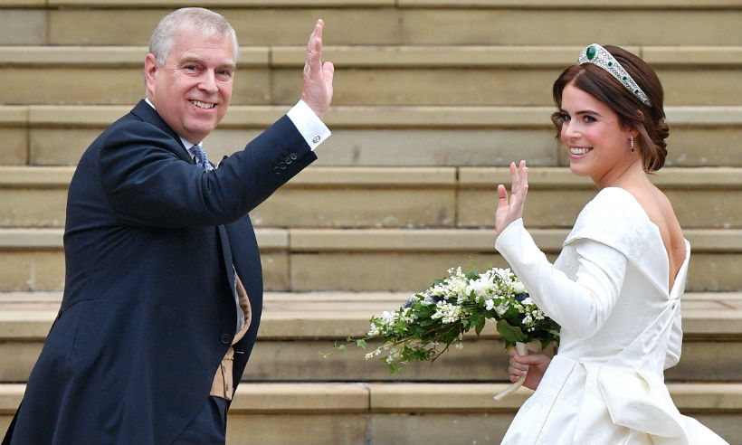 1 Princess Eugenies dad Prince Andrew had everyone in tears with his father of the bride speech Photo C GETTY