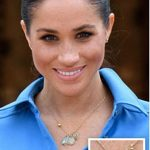 1 SAPPHIRES Drop studs by Canadian jeweller Birks thought to be the most expensive Meghan has worn and valued at £13 082 left TRIO Three Stone necklace by Pippa Small worth around £1 500 right