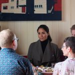 1 The Duchess heard how young people were working to make a difference in their community while at the morning tea meeting