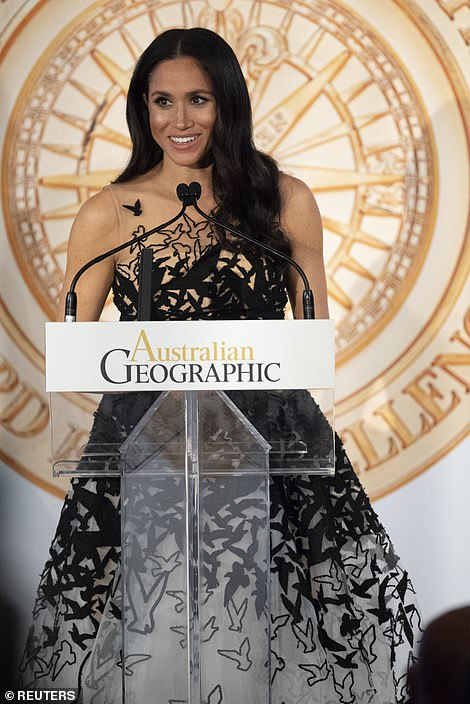 1 The Duchess of Sussex looked glamorous as she attended the 2018 Australian Geographic Society gala awards today