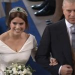 4 Princess Eugenie arrives with her father Prince Andrew Image ITV