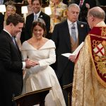5 Princess Eugenie and Jack Brooksbank giggled as they exchanged rings Image PA
