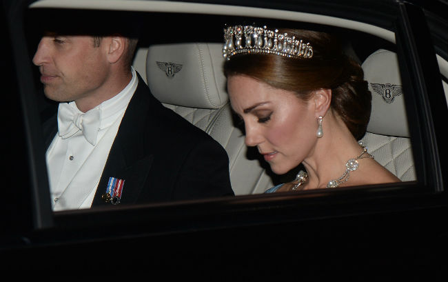 A close up of Kates stunning jewellery Credit Mark Stewart Photo C GETTY