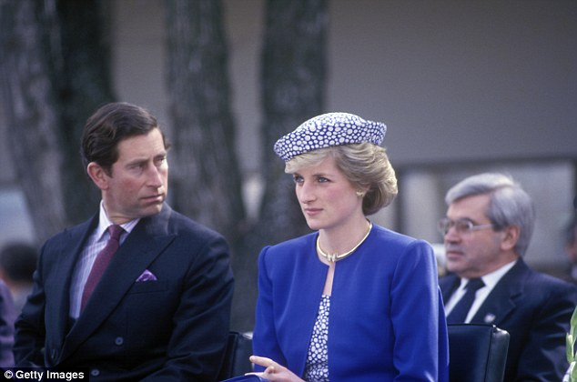 Alongside this Meghan wore butterfly earrings first worn by Princess Diana pictured on the royal tour in Canada in 1986 as well as her gold bracelet