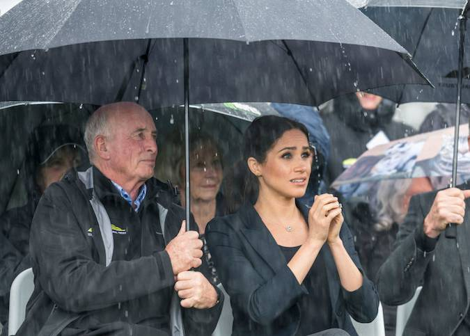 At one point during a presentation Meghan looked particularly captivated by something Photo C GETTY