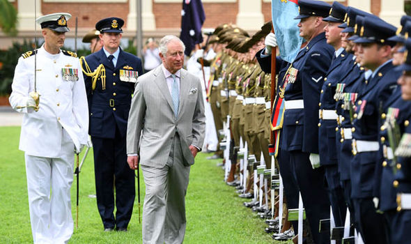 Prince Charles has drawn criticism over his 13 strong entourage during his 2018 Australia tour Image GETTY