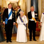 Before going into the palaces Ballroom the Dutch and British royals posed for a group photo Photo C GETTY