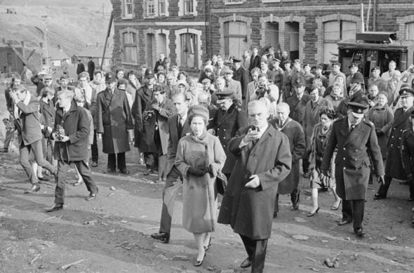 The Queen visited Aberfan eight days after the tragedy Image GETTY