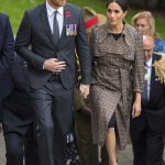 Both Harry and Meghan laid fern fronds on the Tomb of the Unknown Warrior then laid a wreath before heading into the building