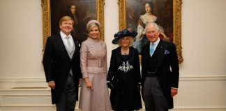 Camilla and Charles met Willem Alexander and Maxima at the Dutch embassy in London Image GETTY