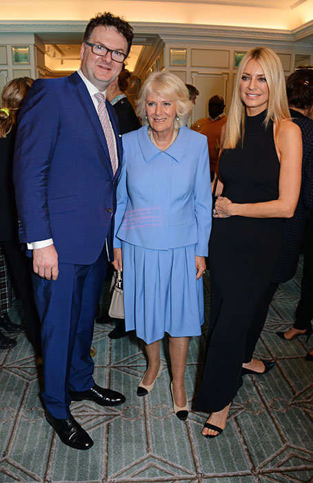 Camilla chatted to Strictly host Tess Daly Photo C GETTY
