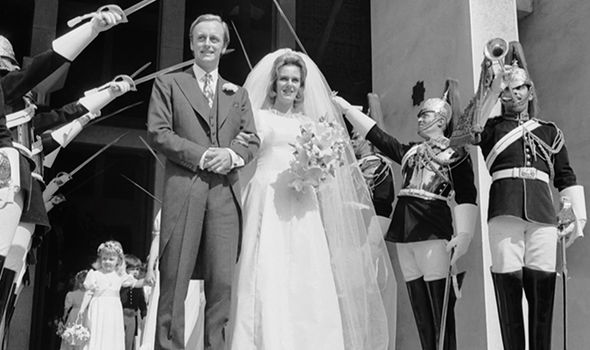 Camilla marrying Andrew Parker Bowles Image NETFLIX