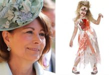 Carole Middleton has been criticised for selling the zombie princess costume. (Photo Party Pieces Getty)
