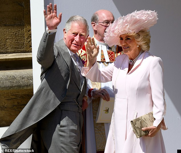 Prince Harry Prince Charles Camilla and Meghan at the 70th Birthday of Charles at Buckingham Palace in London earlier this year