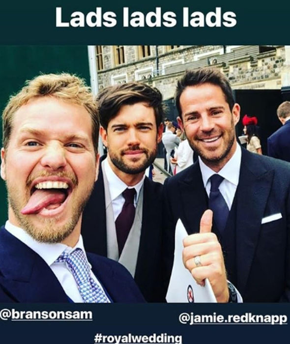 Comedian Jack Whitehall shared a snap from the royal wedding Image Instagram Jack Whitehall