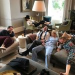 Derek Blasberg Cara Delevingne Dave Gardner Poppy and Chloe Delevingne sink into the sofa Image Instagram