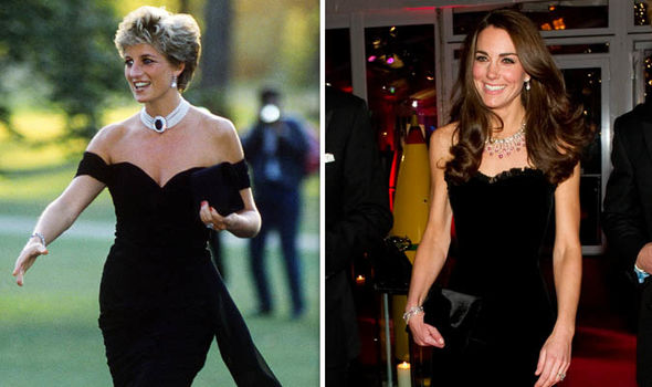 Diana stunned in the revenge dress and Kate mirrored the look Image GETTY