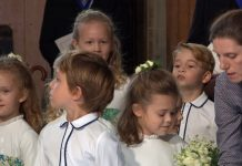 Did you notice Kate Middletons nanny Maria Turrion Borrallo at Princess Eugenies royal wedding Photo C GETTY