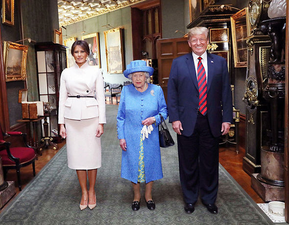 Donald Trump met Eugenies grandmother the Queen earlier this year Image GETTY