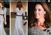 Duchess Kate Middleton Looks Stunning in an Erdem Dress at the VA Museum London