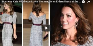 Duchess Kate Middleton Looks Stunning in an Erdem Dress at the VA Museum London