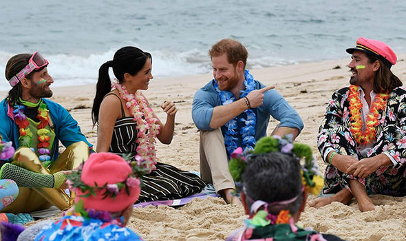 During the Open Wave session Meghan also opened up about her pregnancy Image Getty