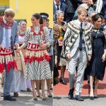 During their tour Harry and Meghan embraced the local tradition by wearing some local attire Photo C GETTY