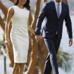 Earlier in the day the Duke and Duchess held hands on the lawns at Admiralty House overlooking Sydney Opera House 1