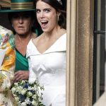 Eugenie looked like she was enjoying her big day as she left Windsor Castle Image PA