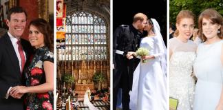 Eugenie vs Meghan's wedding Photo (C) GETTY