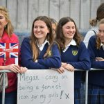 Fans of the royal couple patiently waited for the pair to arrive at the Wellington cafe on Monday morning