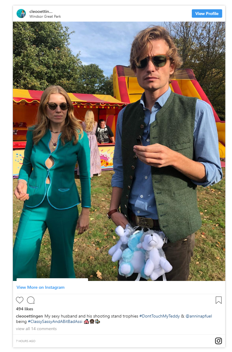 Fellow guest Baroness Cleopatra von Adelsheim von Ernest also shared a photo revealing the funfair set up of the second day wedding party Photo C INSTAGRAM