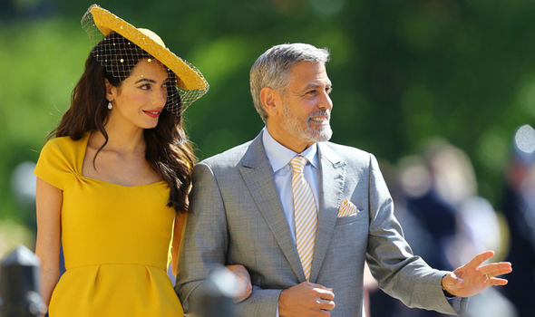 George and Amal Clooney both attended Meghan Markle and Prince Harrys Royal Wedding Image GETTY