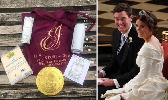 Goody bags from Eugenie's Royal Wedding have been put up for sale on eBay Image GETTY NC
