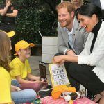 Harry and Meghan greet children at the Pavilion Restaurant where they will meet the Aussie PM Image Samir Hussein WireImage