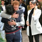 Harry and Meghan hugged a member of the public Image Samir Hussein Wireimage