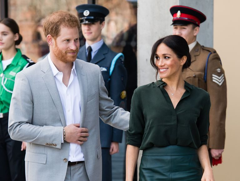 Harry and Meghan on their visit to Sussex earlier in October Photo C GETTY