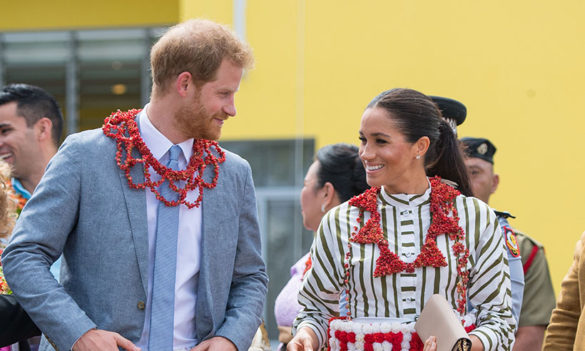 Harry and Meghan wear matching skirts for very special reason Photo C PA