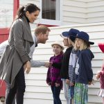 Harry and Meghan were all smiles when they met the young schoolchildren in Wellington the capital of New Zealand