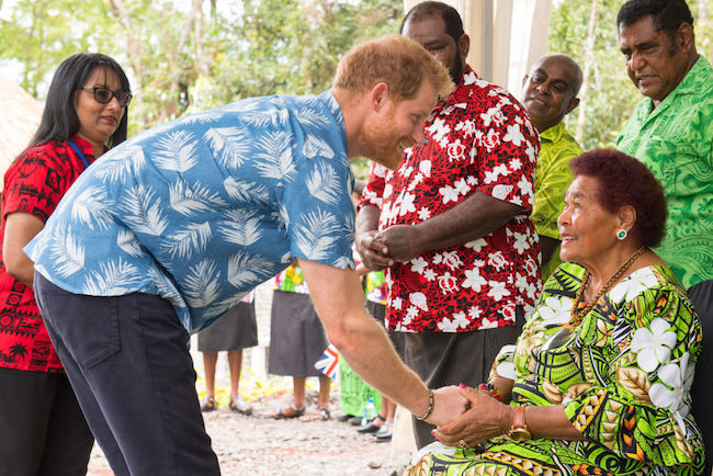 Prince Harry told of shocking moment Prince Philip broke protocol in Fiji Photo C GETTY