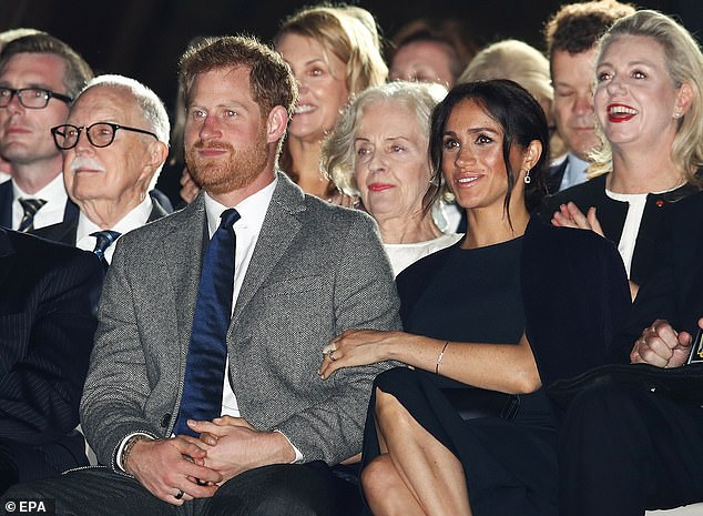 Harry wearing his smart ring gets reassurance from Meghan